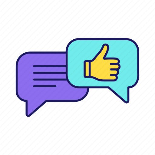 Chat, chatting, feedback, good job, speech bubble, thumbs up, well done icon - Download on Iconfinder