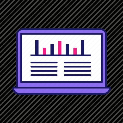 Analytics, laptop, seo, site ranking, smm, social media, statistics icon - Download on Iconfinder