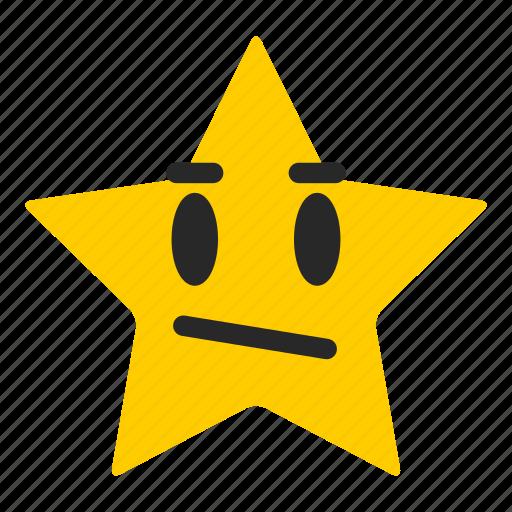 average, emoji, emoticon, good, rating, satisfaction, star icon