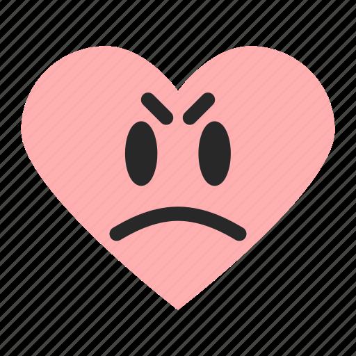 awful, bad, emoji, emoticon, heart, poor, rating icon