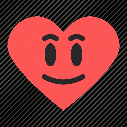 emoji, emoticon, excellent, good, heart, rating, satisfaction icon