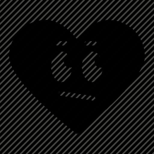 average, emoji, expression, face, favorite, heart, rating icon