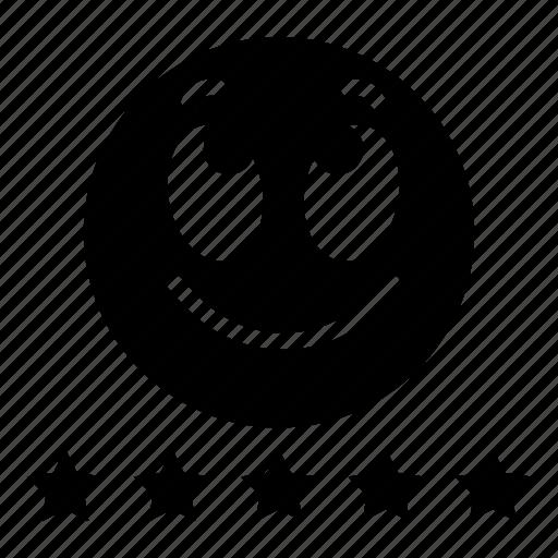 emoji, emoticon, excellent, expression, face, happy, smile icon
