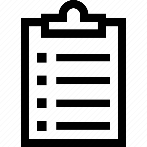 Taskboard, checklist, clipboard, list icon