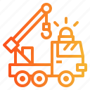 crane, delivery, logistics, truck icon