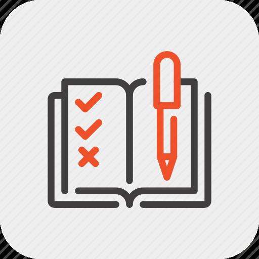 analytics, book, customer, data, questionnaire, report, survey icon