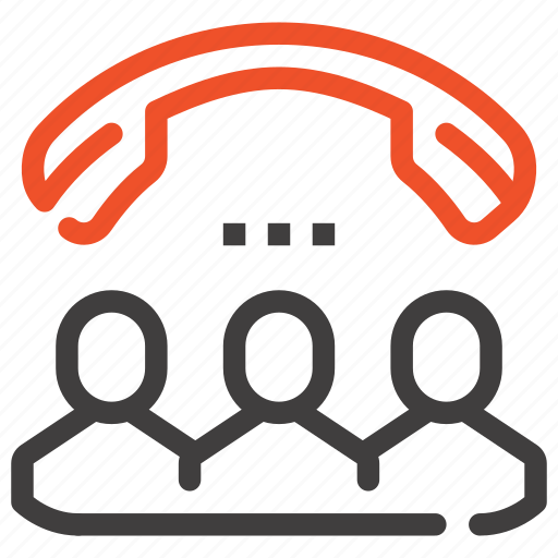 call, communication, conference, group, meeting, online, people icon