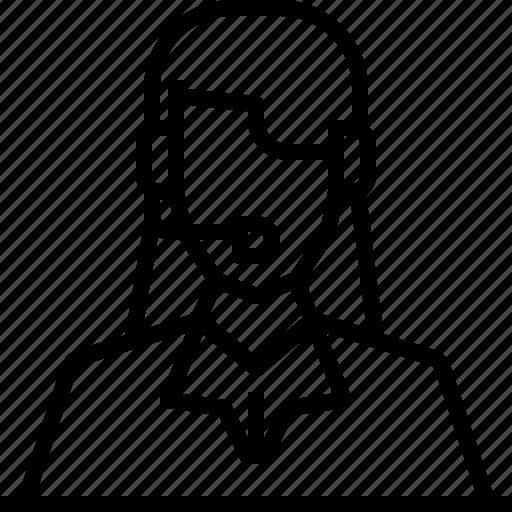avatar, customer, headphone, service, user, woman, worker icon