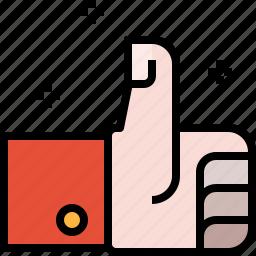 feedback, good, hand, rating, thumb, up, warranty icon