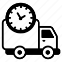 delivery time, shipping time, fast delivery, on time delivery, logistic delivery icon