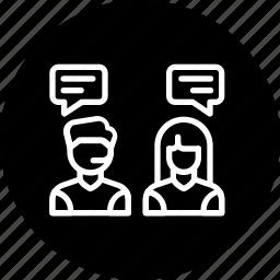 communication, conversation, customer care, help, service, support, talk icon