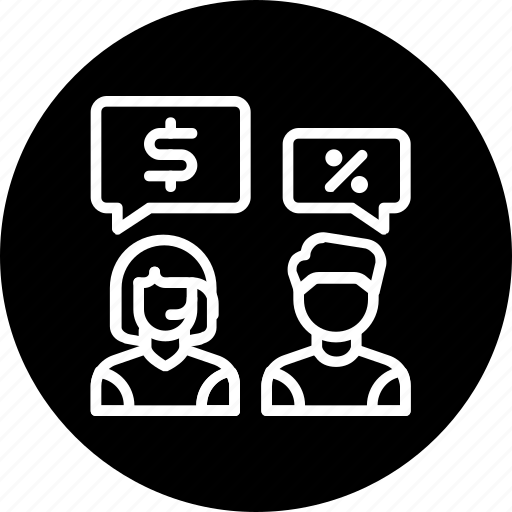conversation, customer care, discount, discussion, help, price, support icon