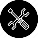 fix, maintenance, management, repair, screwdriver, service, wrench icon