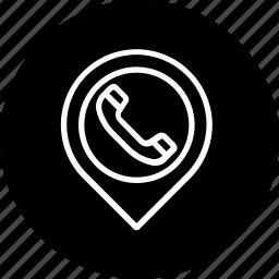 address, location, phone, place, telephone icon