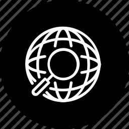 community, search, social, web, world icon