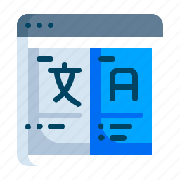 answer, language, question, questionnaire, translate, word icon