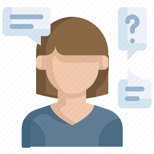customer, query, questionnaire, questions icon