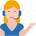 call center, communication, customer support, person, service, support, woman icon