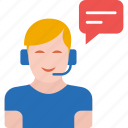 call center, communication, customer support, man, person, service, support icon