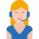 call center, communication, customer support, service, support, support girl, woman