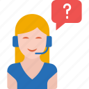 call center, communication, customer support, service, support, support girl, woman icon