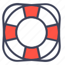 help, life, lifebuoy, saver, support, tube icon