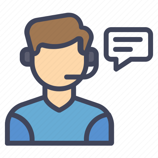 care, conversation, customer, help, man, service, support icon