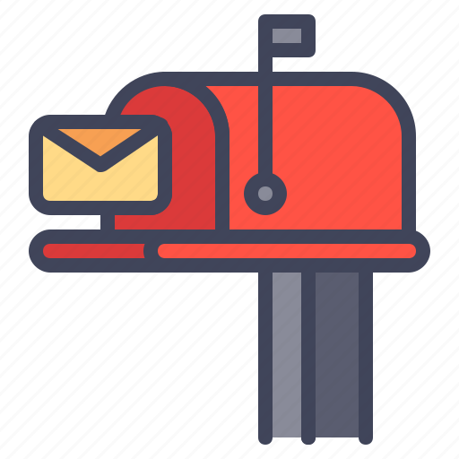 box, delivery, envelope, letter, postbox icon