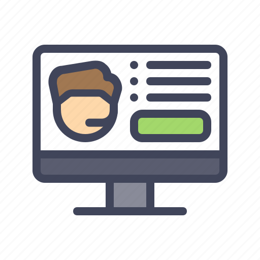 care, customer, help, support, website icon