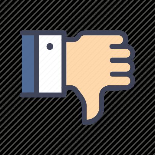 bad, dislike, feedback, review, thumbsdown icon