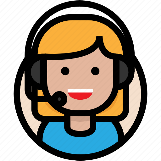 call center, customer support, female, support icon
