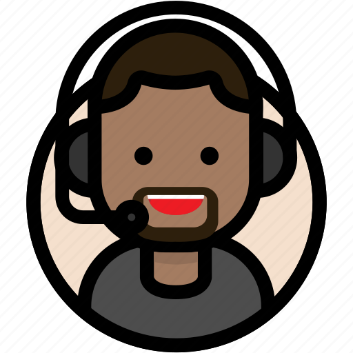 call center, customer support, male, support icon