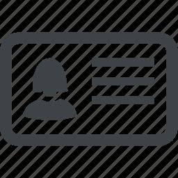 business, card, person, profile, user icon