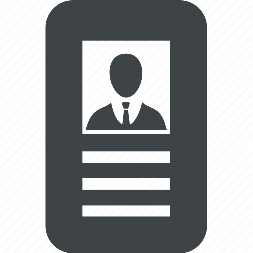 avatar, business, card, profile, user icon
