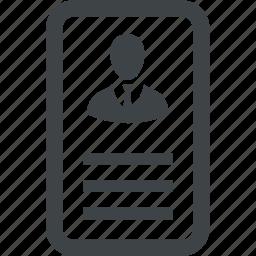 avatar, card, person, profile, user icon
