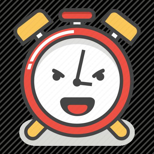 'Cute Alarm Clock Emoji In Different Expressions' by Akshar Pathak