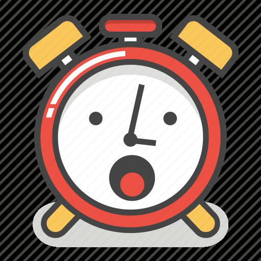alarm, awe, clock, emoji, minute, surprised, time icon