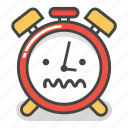 alarm, clock, confused, emoji, minute, sick, time icon