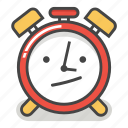 alarm, annoyed, bored, clock, emoji, minute, time icon