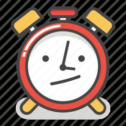 alarm, annoyed, bored, clock, emoji, minute, time icon