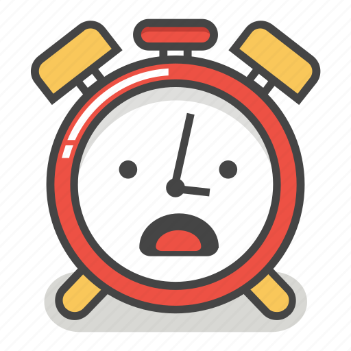 alarm, clock, emoji, minute, time, upset, worried icon