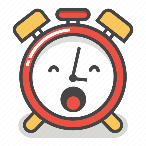 alarm, clock, emoji, minute, sleepy, time, yawn icon