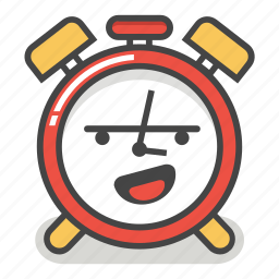 alarm, clock, emoji, laughing, minute, smiley, time icon