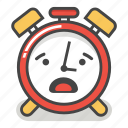 alarm, clock, emoji, minute, surprised, time, worried icon