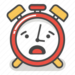 alarm, clock, emoji, minute, surprised, time, worried icon