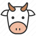animal, cattle, cow, face, farm, head