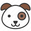 animal, cute, dog, face, head, pet icon