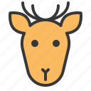 animal, deer, face, forest, head, wild icon