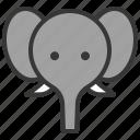 africa, animal, elephant, face, head, wild, zoo icon