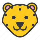 animal, face, head, leopard, wild, zoo icon
